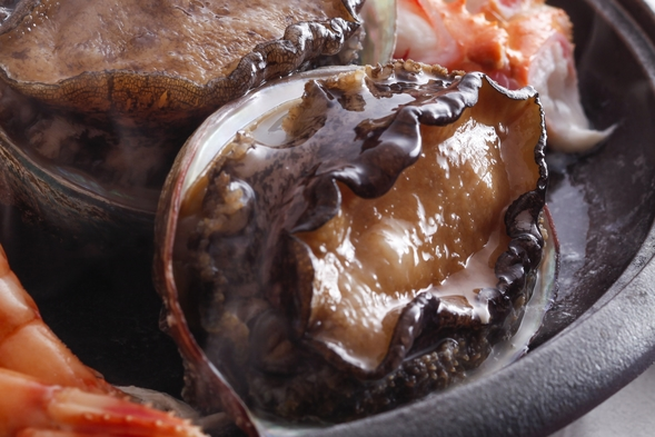 【魚貝が好きです】香住かに+活鮑の踊り+ノドグロ塩焼+土鍋ごはん/2人貸切温泉/スペシャリテ/