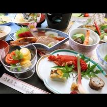 【グレードアップコース】贅沢食材が並ぶ大満喫コース。