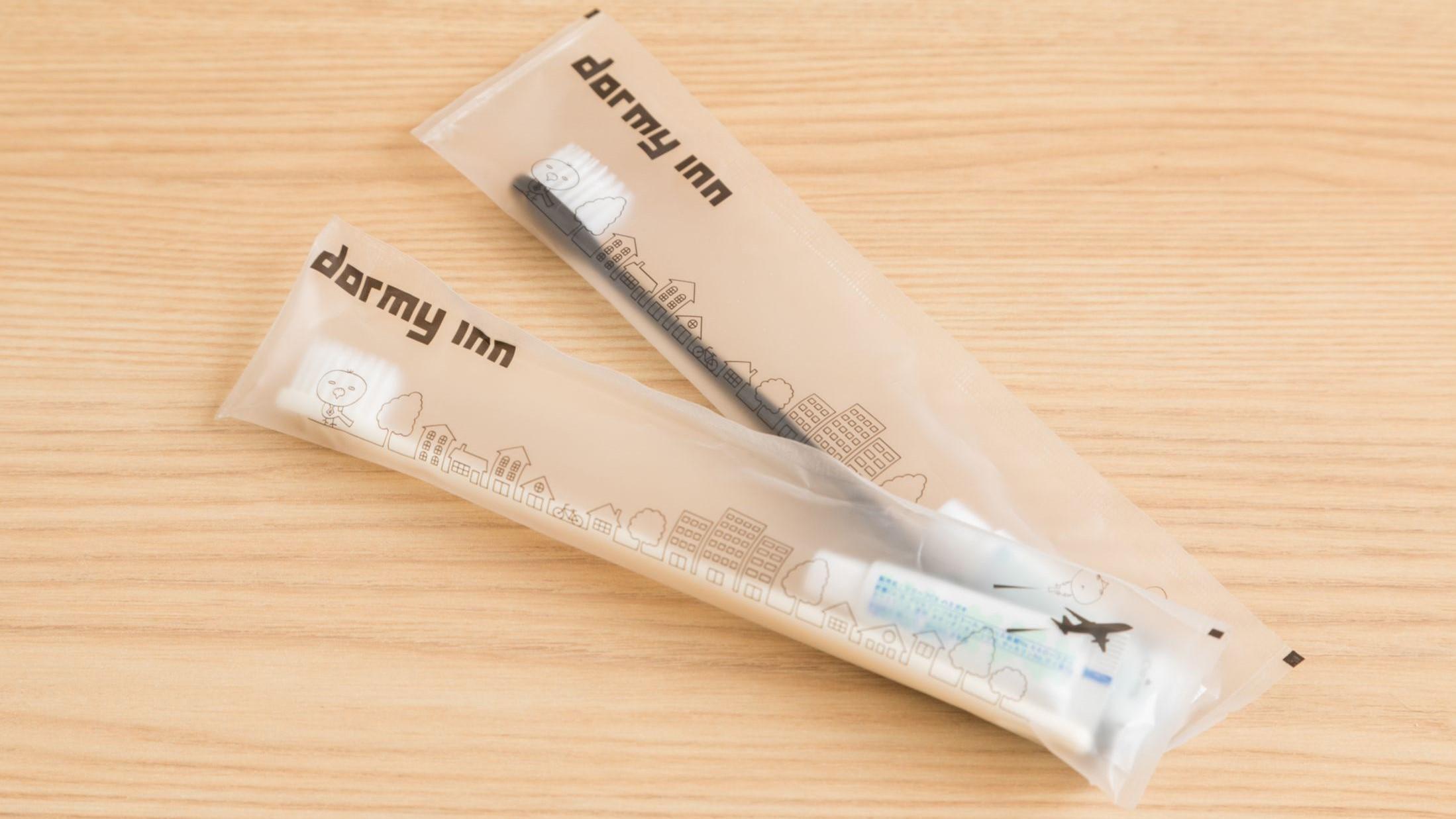 【客室アメニティ】 歯ブラシ 可愛いドーミーいんこがデザインされてます♪