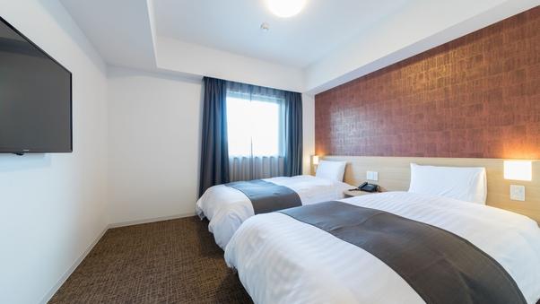 ◇禁煙◇ツインルーム 18平米  ベッド110×195センチ