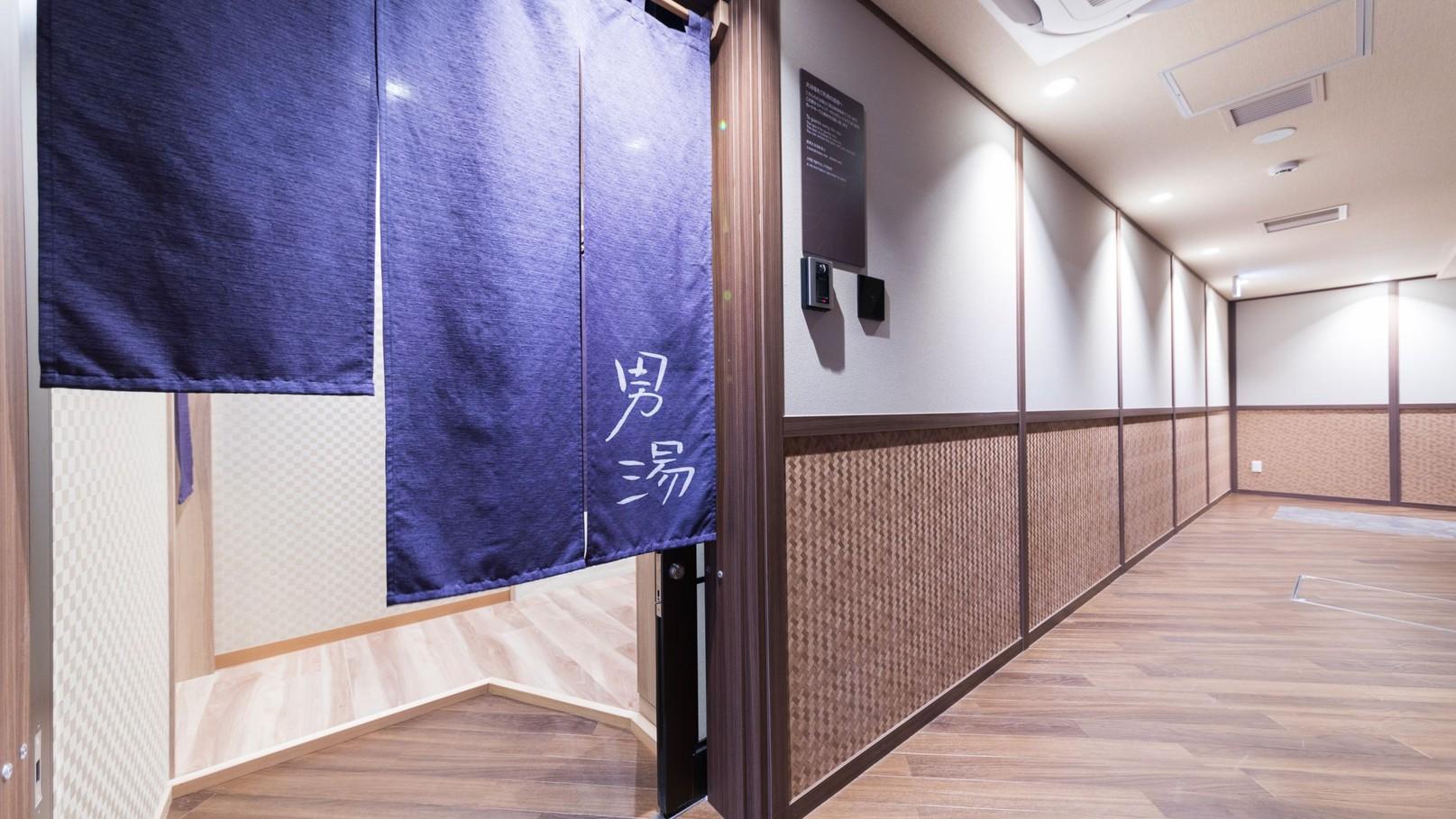 【男性入口】13Fエレベータ左手 ルームキータッチで入場可能