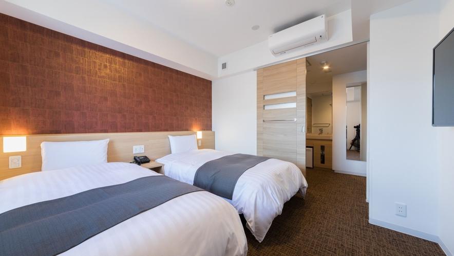 ◇禁煙◇ツインルーム 18平米  ベッド110×195センチ※7-12階