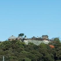 ◆男性大浴場から見える松山城