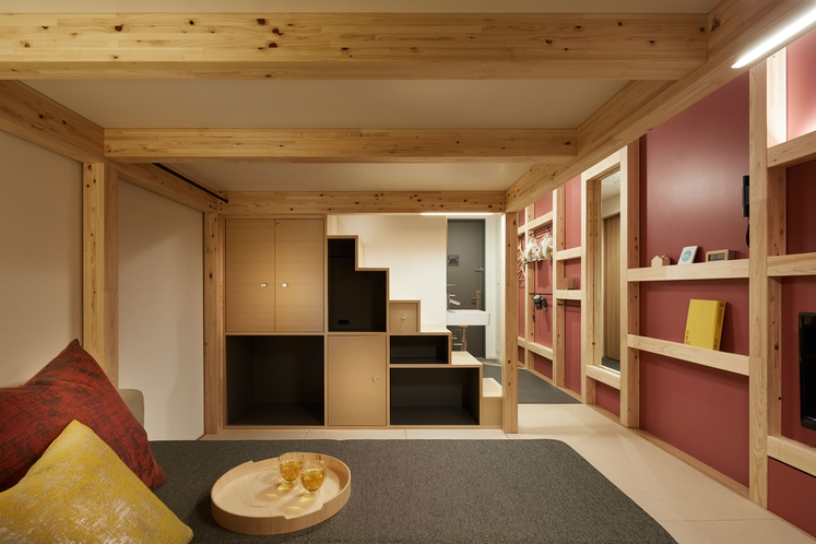 ◇やぐらルーム◇うれしい仕掛け満載の革新的なゲストルーム