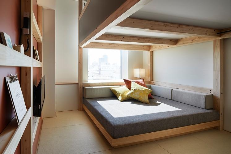 ◇やぐらルーム◇広くて大きいソファスペースは一日中ゆっくりと過ごせる空間