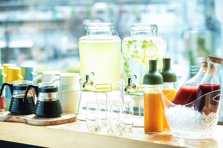 ◇朝食◇色どりカラフルな朝食ドリンクバー