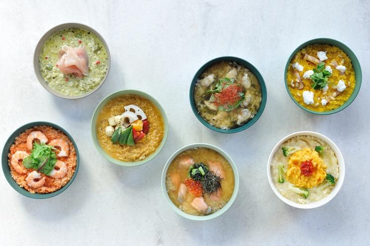 ◇朝食◇個性豊かな7種類のリゾット