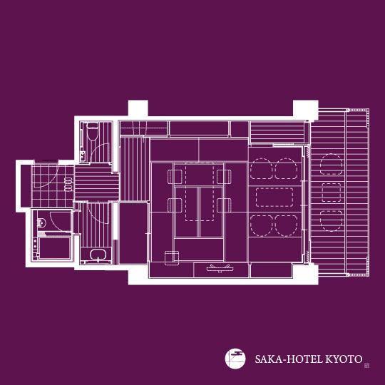 和室(縁側テラス付) 64平米(一例)