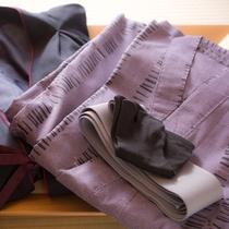 くつろぎ着には浴衣や羽織をご利用ください。