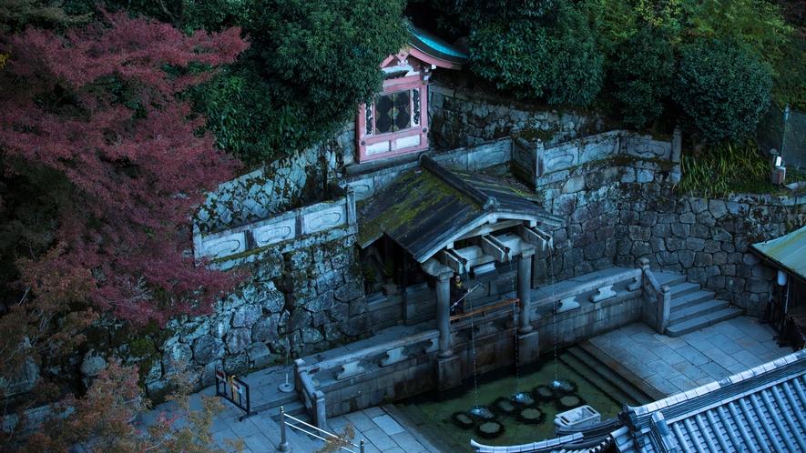 清水寺の開創の起源で寺名の由来となった音羽の滝