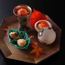 【ダイニング「清水茶寮」】夕食イメージ 秋の旬菜の取合せ