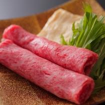 【ダイニング「清水茶寮」】夕食イメージ 国産黒毛和牛と京湯葉のしゃぶしゃぶ 特製胡麻だれ