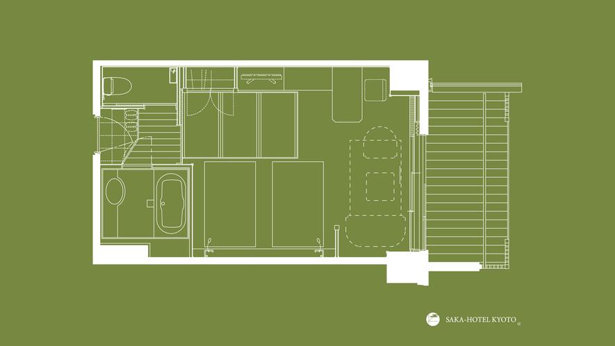 デラックストリプル(縁側テラス付) 41平米(一例)