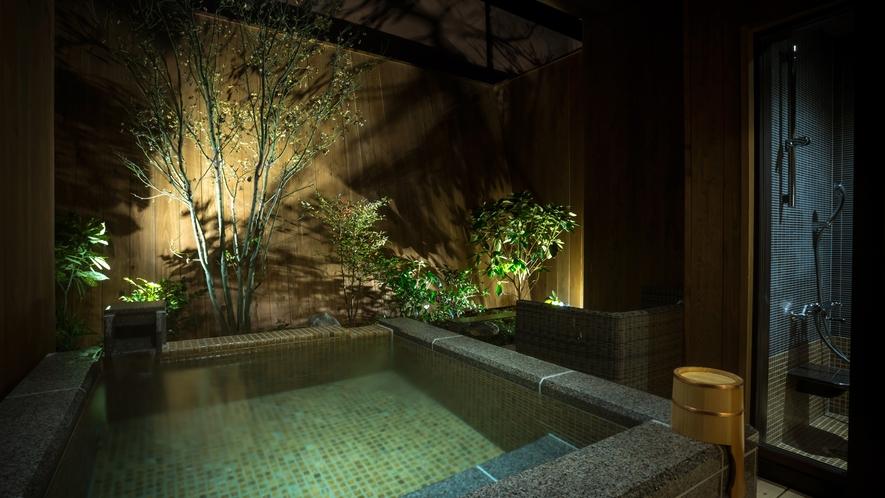 露天風呂付デラックスツイン 46平米(一例) ※客室内の間取りは下部をご覧ください