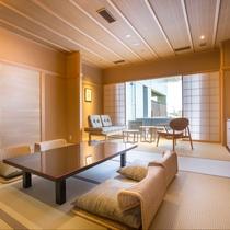 和室(縁側テラス付) 53平米 ※客室内の間取りは下部をご覧ください