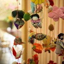 フロントでは京の町に良く似合うつるし飾りがお出迎え