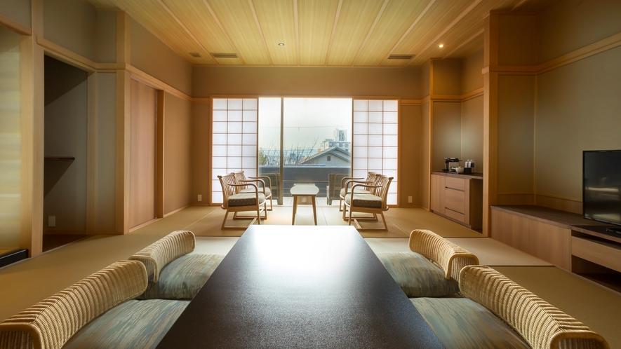 和室(縁側テラス付) 64平米 ※客室内の間取りは下部をご覧ください