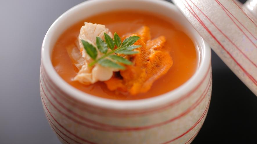 【ダイニング「清水茶寮」】夕食イメージ 雲丹と湯葉の昔ながらの茶碗蒸し