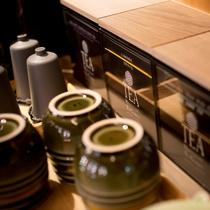 ゲストラウンジ「音羽リビング」各種紅茶・日本茶もご用意