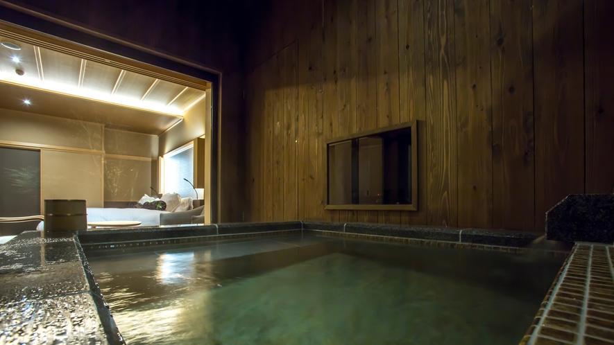 露天風呂付グランデツイン 53平米(一例) ※客室内の間取りは下部をご覧ください