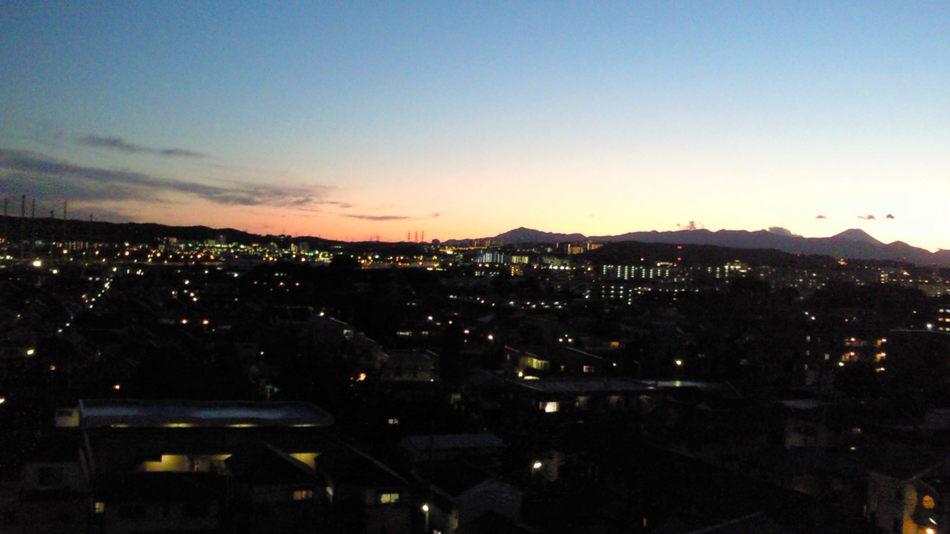 夕焼け夜景