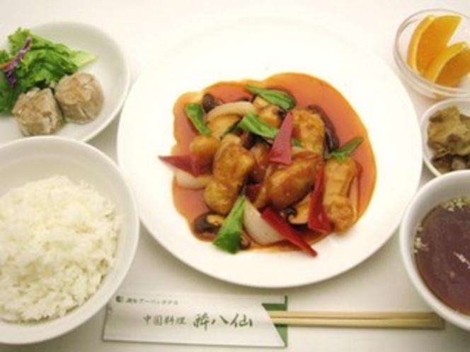 白身魚の甘酢アンセット
