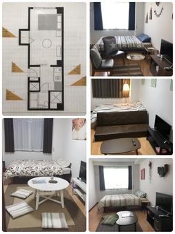 1Kのお部屋。4名まで宿泊可能!グループにオススメ(^^)