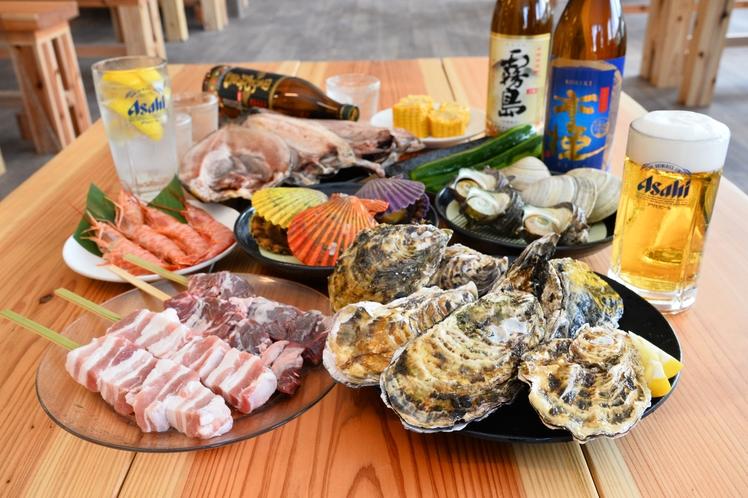 牡蠣小屋 食事