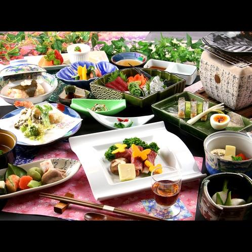 【春会席】春の山の幸、山菜や旬の素材をふんだんに取り入れた料理