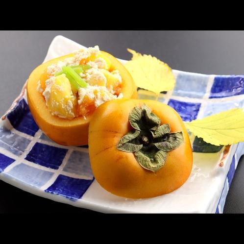 【夕食一例*秋】柿の白和え