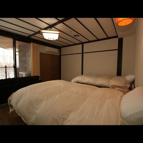 【ゆったり和洋室*和室10畳+ツインベッド】