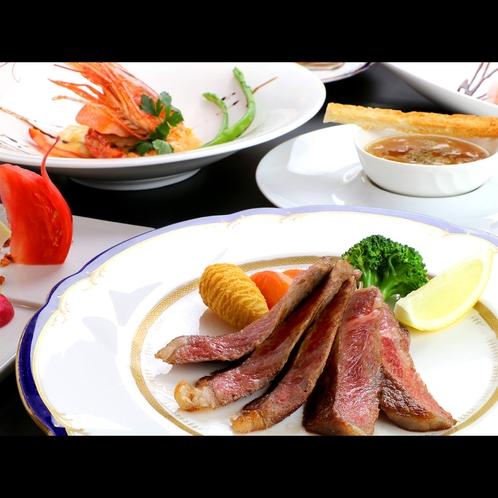【フレンチフルコース】オーナーシェフ手作りの夕食は見た目も華やか