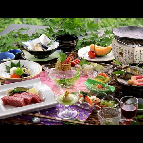 【夏会席】旬の素材と和牛の陶板焼きは人気の和会席