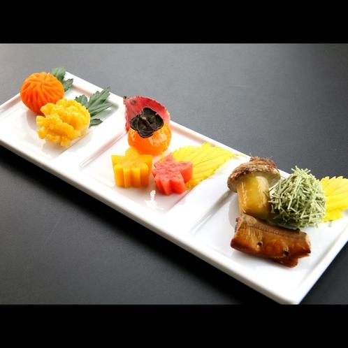【夕食一例*秋】前菜盛り合わせ