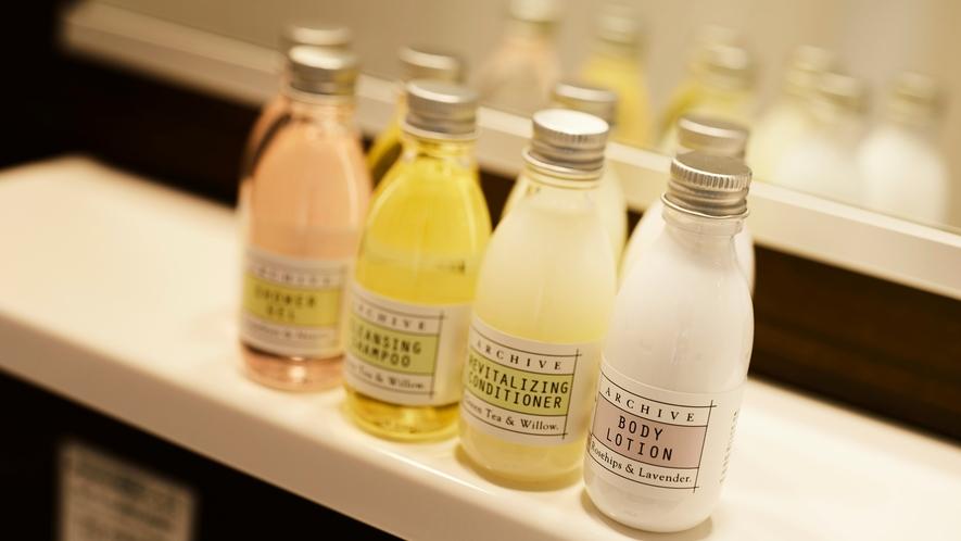 【インターゲートルーム特別アメニティ】シアバター配合&爽やかな香りに包まれるARCHIVEアメニティ
