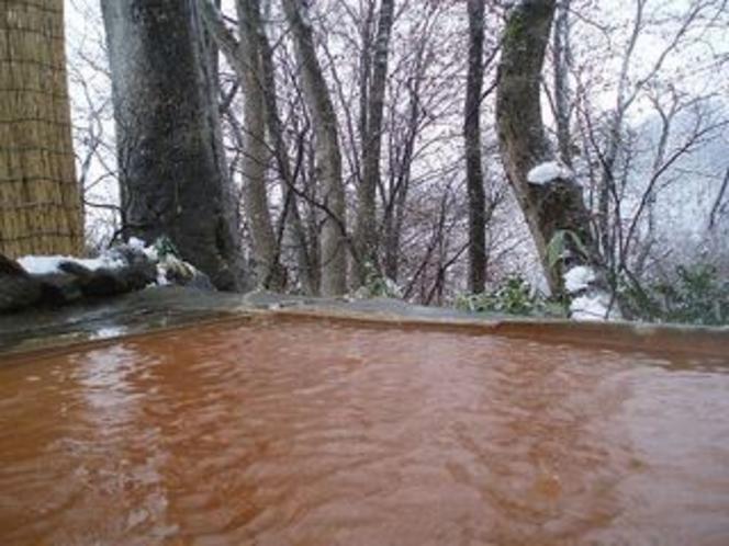野天風呂初冬