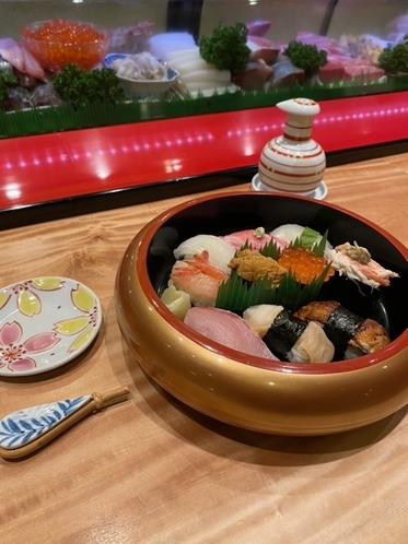 地元寿司店の特上寿司1人前②