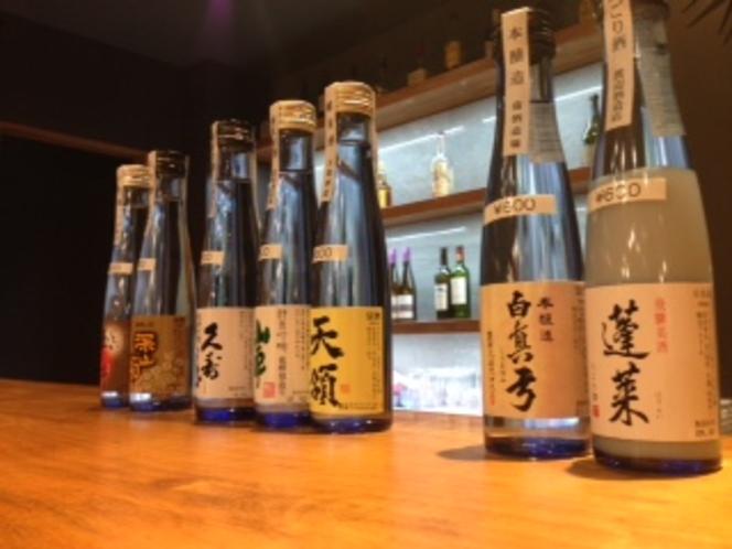 BARで提供の日本酒