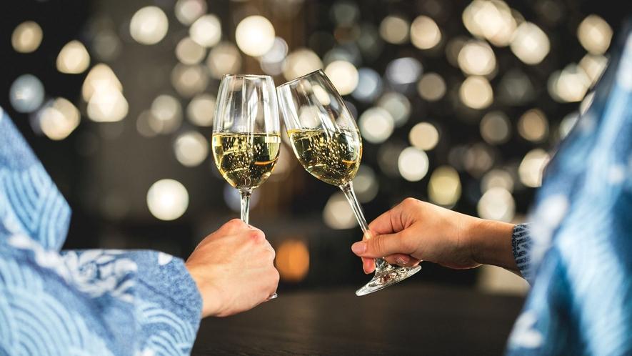 ◆スパークリングワインで乾杯◆
