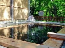 【露天風呂】「折戸の湯」湯冷めしにくいポカポカの露天風呂です。