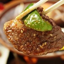 【夕食】国産牛陶板焼き