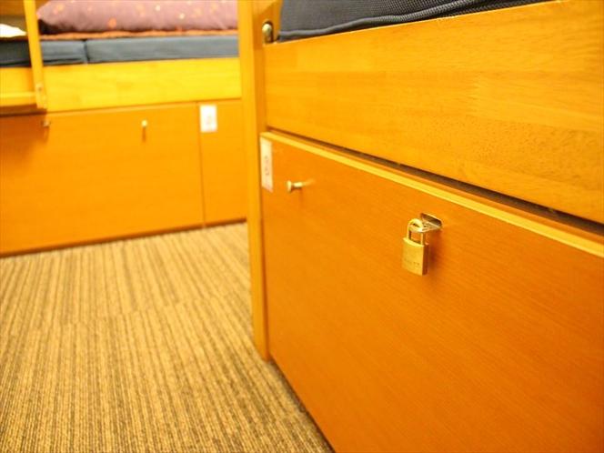 ロッカー  Locker in 4 bed private room