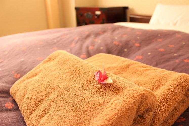 ダブルルーム / お部屋にはタオルがついています。 Double room / Towel is a