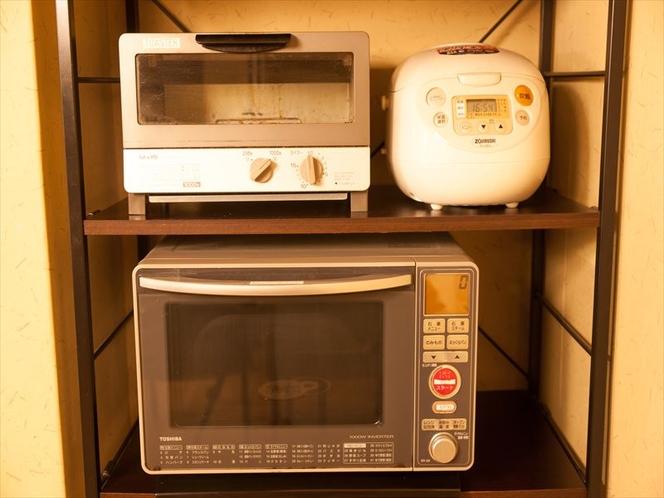 トースター、レンジ、炊飯器ご利用頂けます。 Toaster, Microwave, Rice coo