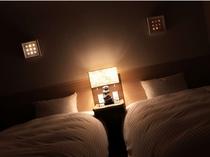 ☆是空棟のベッドはシモンズ社製を使用。ねむりにもこだわりました。