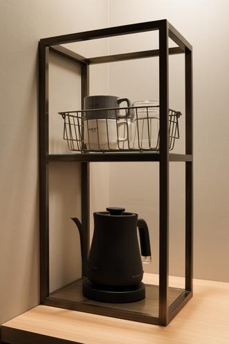 コーヒーセット 客室設置風景