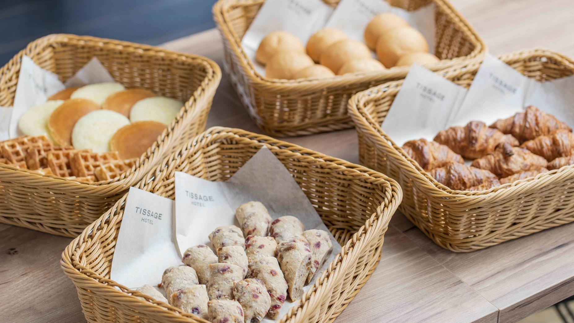4種類から選べるパンコーナー