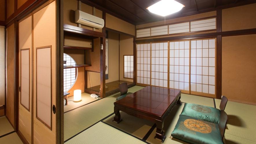【和室一例】入り口には松村謙三先生直筆の部屋標札が。