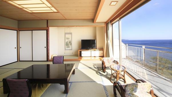 (禁煙)大きな窓から相模湾を一望!和室14.5畳