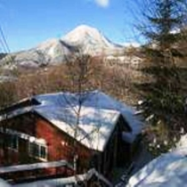 冬の朝、蓼科山とリトルフット